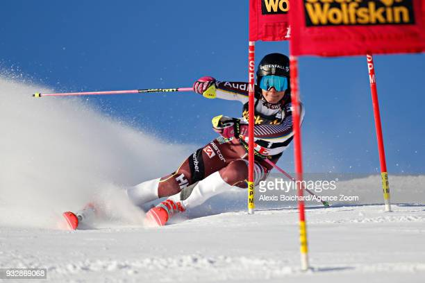 Frida Hansdotter of Sweden competes during the Audi FIS Alpine Ski World Cup Finals Men's and Women's Team Event on March 16 2018 in Are Sweden