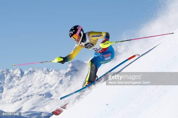 Frida Hansdotter of Sweden competes during the FIS Alpine Ski World Championships Women's Slalom on February 18 2017 in St Moritz Switzerland