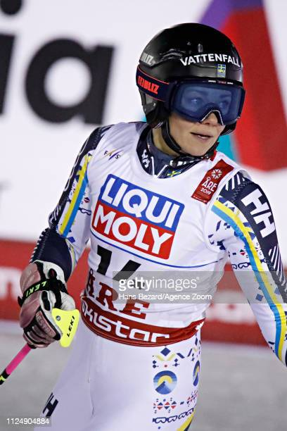 Frida Hansdotter of Sweden competes during the FIS World Ski Championships Women's Giant Slalom on February 14 2019 in Are Sweden