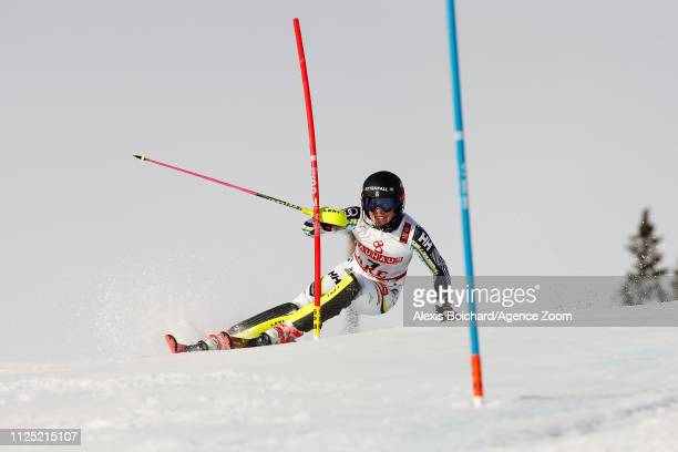 Frida Hansdotter of Sweden competes during the FIS World Ski Championships Women's Slalom on February 16 2019 in Are Sweden