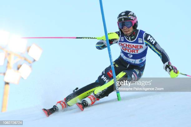 Frida Hansdotter of Sweden in action during the Audi FIS Alpine Ski World Cup Women's Slalom on November 17 2018 in Levi Finland