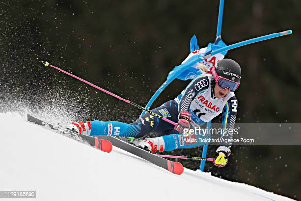 Frida Hansdotter of Sweden in action during the Audi FIS Alpine Ski World Cup Women's Giant Slalom on March 8 2019 in Spindleruv Mlyn Czech Republic