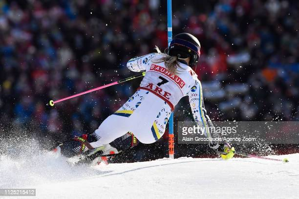 Frida Hansdotter of Sweden in action during the FIS World Ski Championships Women's Slalom on February 16 2019 in Are Sweden