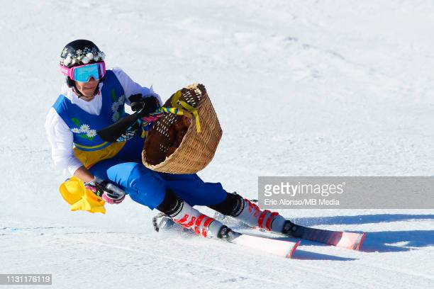 Frida Hansdotter of Sweden in action during the Women's Giant Slalom on March 17 2019 in Andorra la Vella Andorra