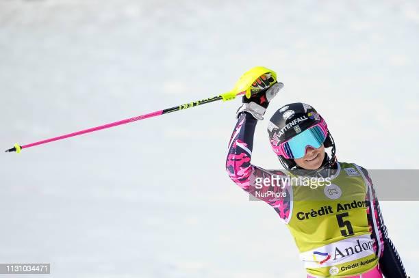 Frida Hansdotter of Sweden Ski Team, during Ladies' Giant Slalom Audi FIS Ski World Cup race, on March 16, 2019 in El Tarter, Andorra.