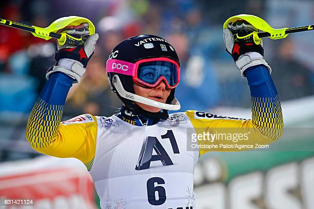 Frida Hansdotter of Sweden takes 1st place during the Audi FIS Alpine Ski World Cup Women's Slalom on January 10 2017 in Flachau Austria
