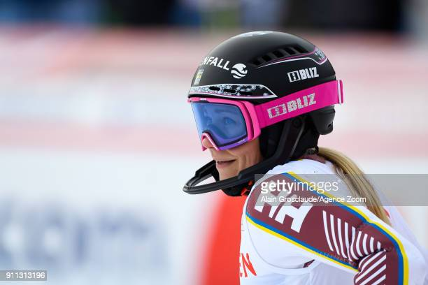 Frida Hansdotter of Sweden takes 2nd place during the Audi FIS Alpine Ski World Cup Women's Slalom on January 28 2018 in Lenzerheide Switzerland