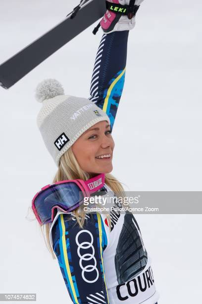 Frida Hansdotter of Sweden takes 3rd place during the Audi FIS Alpine Ski World Cup Women's Slalom on December 22 2018 in Courchevel France