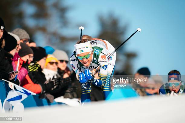 Frida Karlsson competes during the women's 100 km crosscountry interval of the FIS Cross Country World Cup in Lahti Finland on February 29 2020