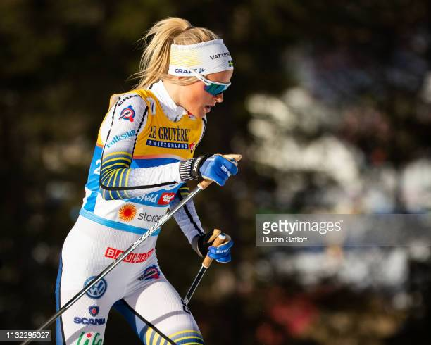 Frida Karlsson of Sweden competes in the Women's 10km Cross Country during the FIS Nordic World Ski Championships on February 26 2019 in Seefeld...