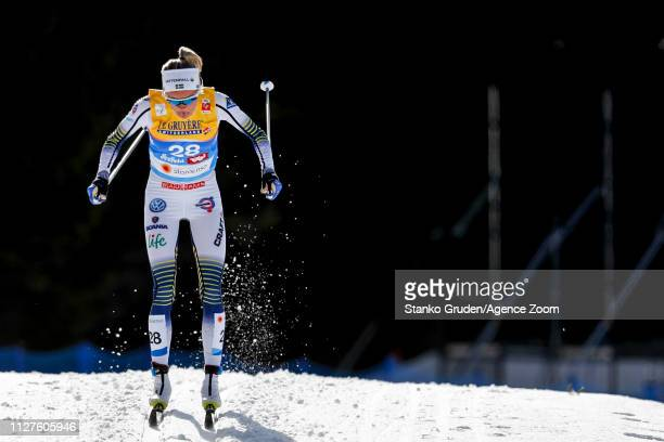 Frida Karlsson takes 2nd place during the FIS Nordic World Ski Championships Women's Cross Country Classic on February 26 2019 in Seefeld Austria