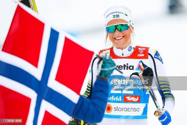 Frida Karlsson takes 2nd place during the FIS Nordic World Ski Championships Women's Cross Country Mass Start on March 2 2019 in Seefeld Austria