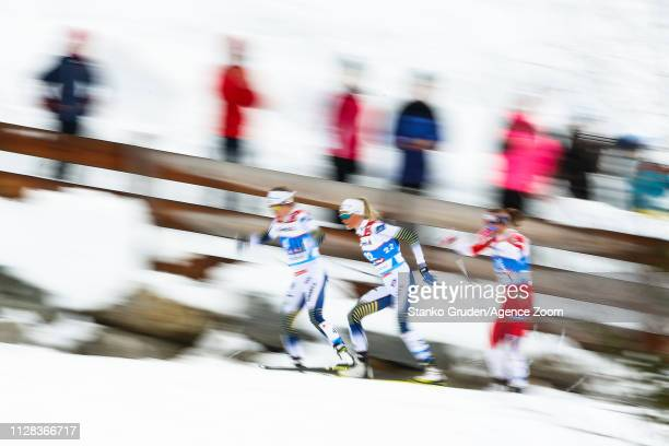 Frida Karlsson takes 3rd place during the FIS Nordic World Ski Championships Women's Cross Country Mass Start on March 2 2019 in Seefeld Austria