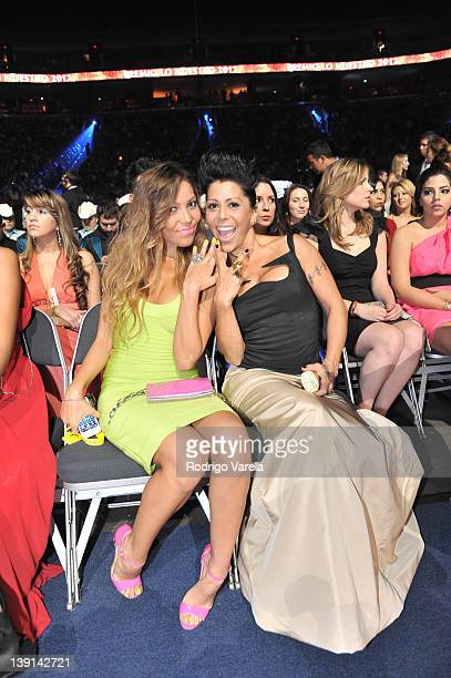 Frida Sofia and Alejandra Guzman in the audience at the Premio Lo Nuestro a La Musica Latina at American Airlines Arena on February 16 2012 in Miami...
