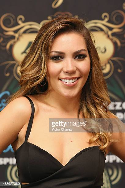 Frida Sofia attends the Playboy Mexico magazine february 2015 issue photocall and press conference at Rustik Kitchen on February 19 2015 in Mexico...