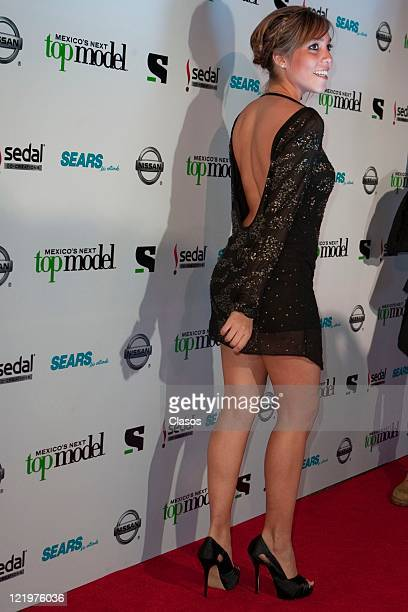 Frida Sofia during the red carpet for the second season Mexico's Next Top Model at Bar Ragga Mexico City