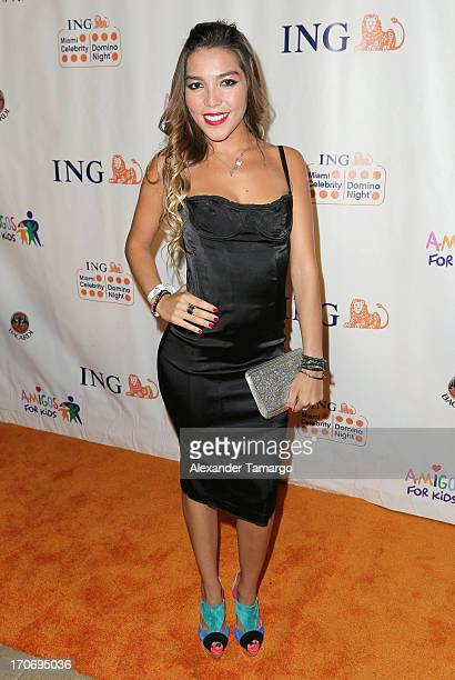 Frida Sofia Guzman attends ING Celebrity Domino Night to benefit Amigos For Kids at Jungle Island on June 15 2013 in Miami Florida
