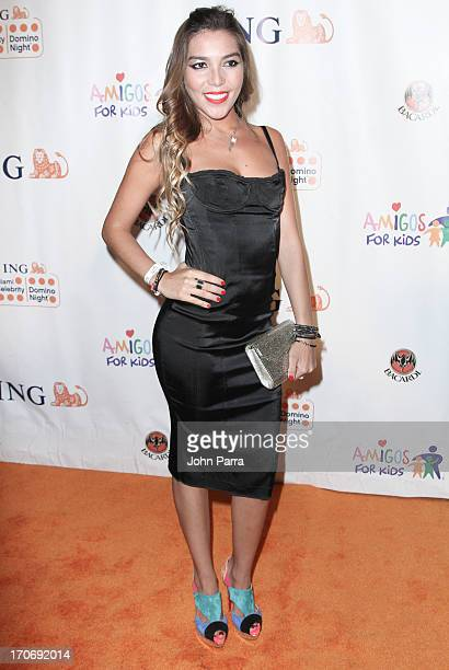 Frida Sofia Guzman attends the ING Celebrity Domino Night to Benefit Amigos For Kids at Jungle Island on June 15 2013 in Miami Florida