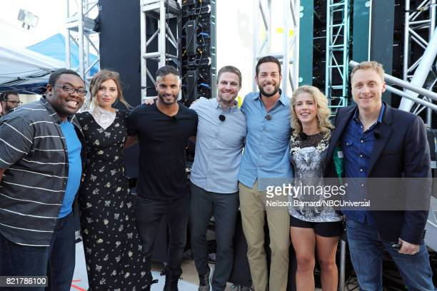 CON Friday July 21st 2017 Pictured Andre Meadows Aly Michalka Ricky Whittle Stephen Amell Zachary Levi Emily Bett Rickards and Alan Tudyk