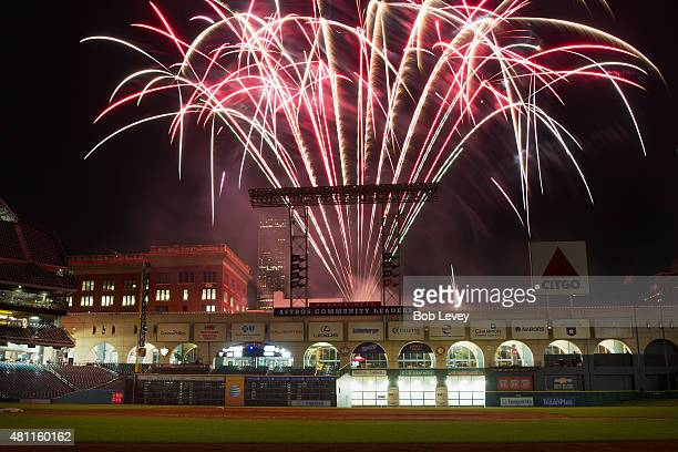 Friday Night Fireworks after the Houston Astros beat the Texas Rangers at Minute Maid Park on July 17, 2015 in Houston, Texas.