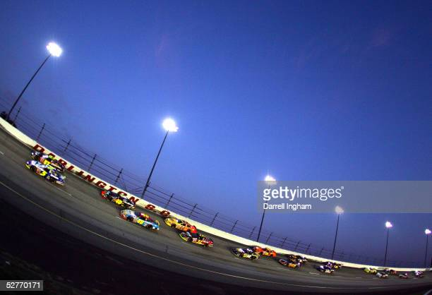 Friday night racing takes place under the lights during the NASCAR BUSCH Series Diamond Hill Plywood 200 on May 6 2005 at the Darlington Raceway in...