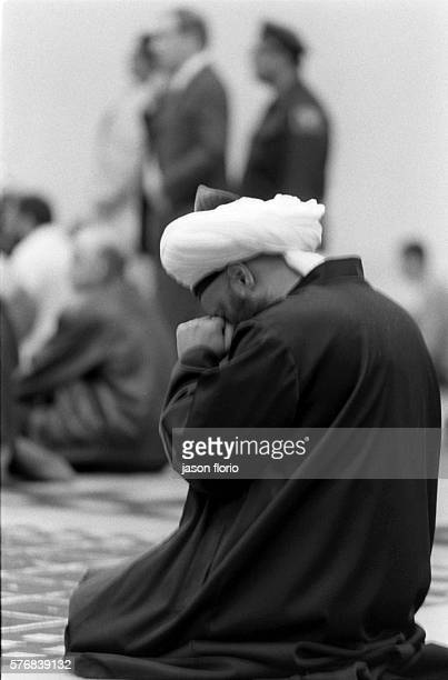 Friday noon prayer services at Islamic Cultural Center and Mosque of New York City on 96th Street after the attack on the World Trade Center UN...