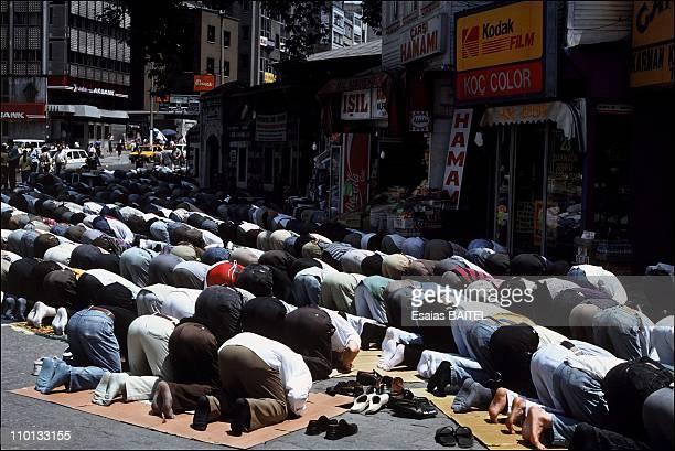 Friday prayers in Istanbul Turkey in October 1995