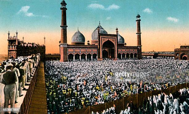 Friday prayers Jama Masjid Delhi India early 20th century The Jama Masjid is one of the largest and most important mosques in India Commissioned by...