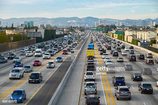 Friday Traffic on the 405 freeway North Los Angeles California