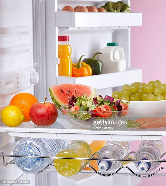 Fridge containing healthy food