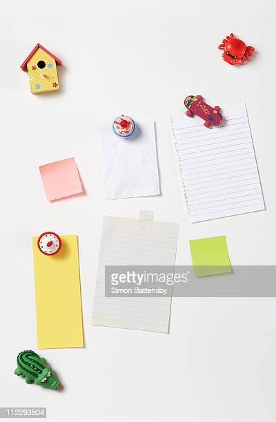 fridge magnets and blank note papers
