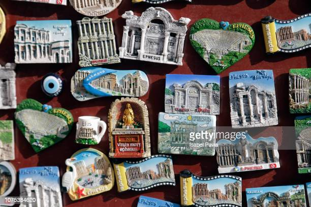 fridge magnets for sale (ephesus, turkey) - izmir stock pictures, royalty-free photos & images