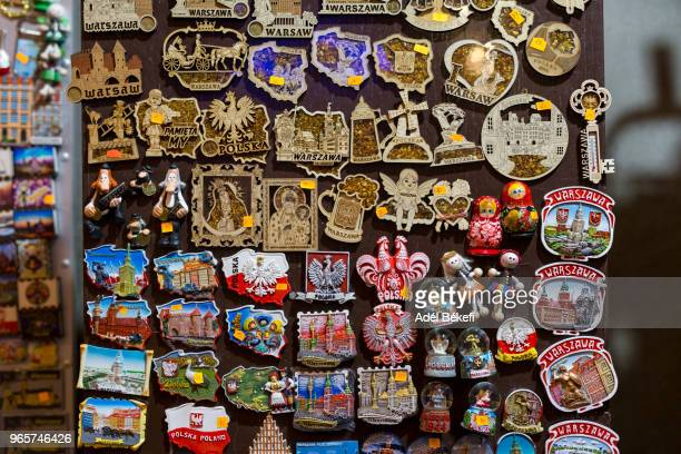 fridge magnets for sale (macedonia, skopje) - souvenir stock pictures, royalty-free photos & images