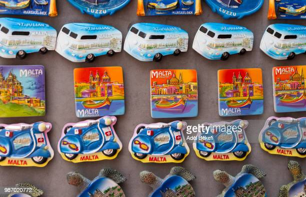 fridge magnets for sale (malta) - gift shop stock pictures, royalty-free photos & images