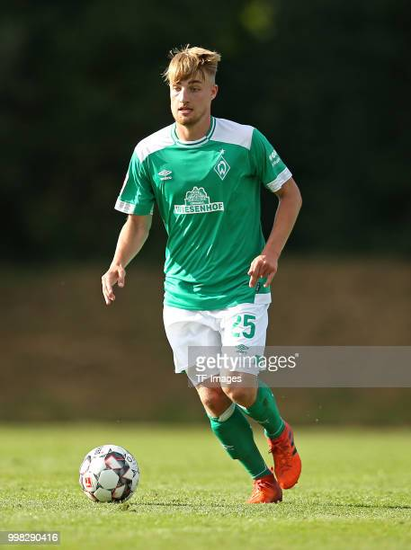 Fridolin Wagner of Werder Bremen controls the ball during the friendly match between OSC Bremerhaven and Werder Bremen on July 10 2018 in Bremerhaven...
