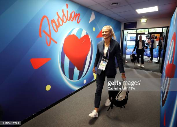 Fridolina Rolfo of Sweden arrives at the stadium prior to the 2019 FIFA Women's World Cup France group F match between Chile and Sweden at Roazhon...