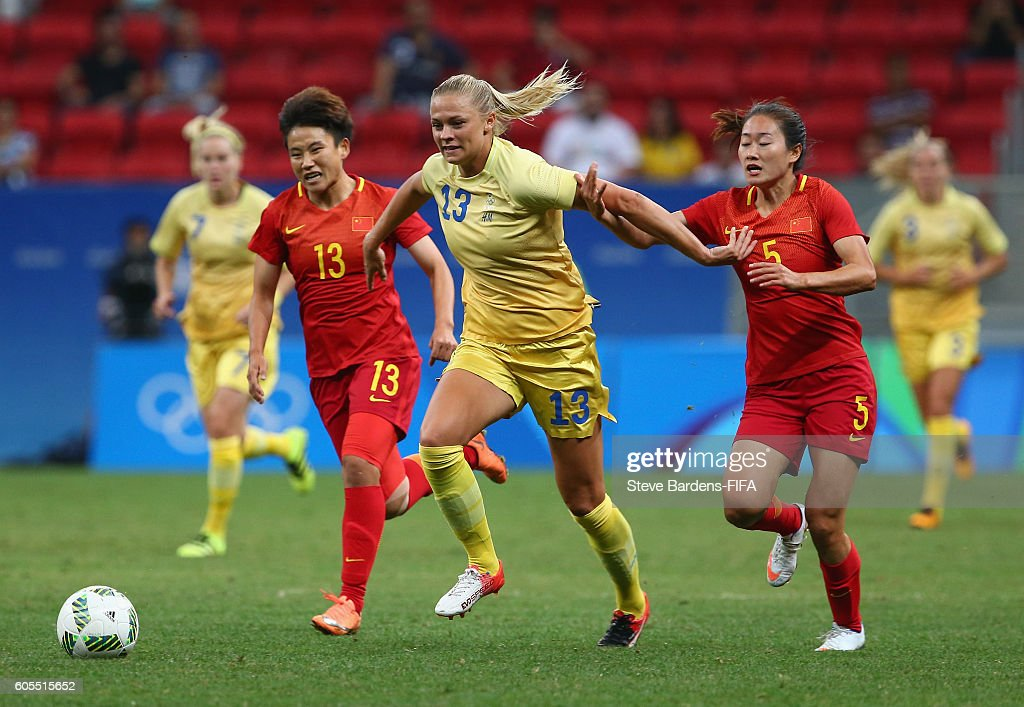 China PR v Sweden: Women's Football - Olympics: Day 4 : News Photo