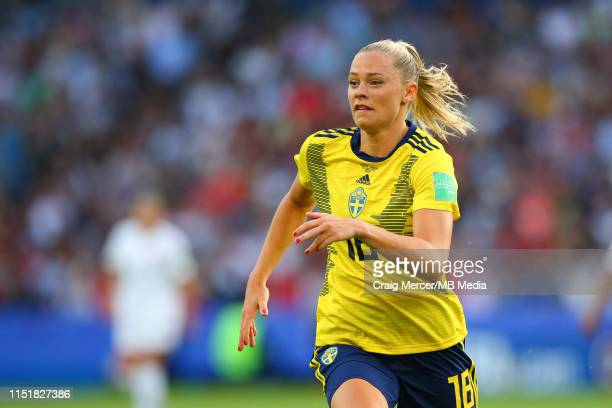 Fridolina Rolfo of Sweden during the 2019 FIFA Women's World Cup France Round Of 16 match between Sweden and Canada at Parc des Princes on June 24...