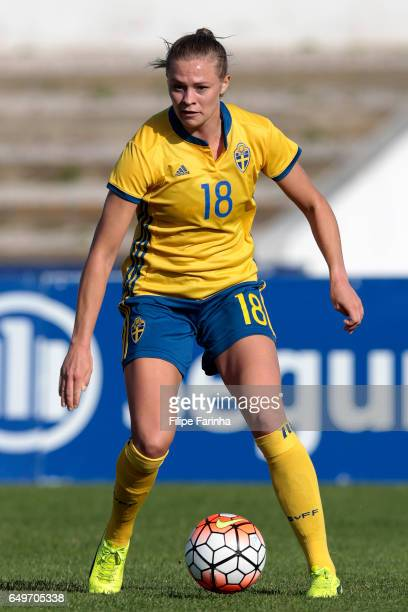 Fridolina Rolfo of Sweden during the Algarve Cup Tournament Match between Sweden W and Netherlands W on March 6 2017 in Lagos Portugal