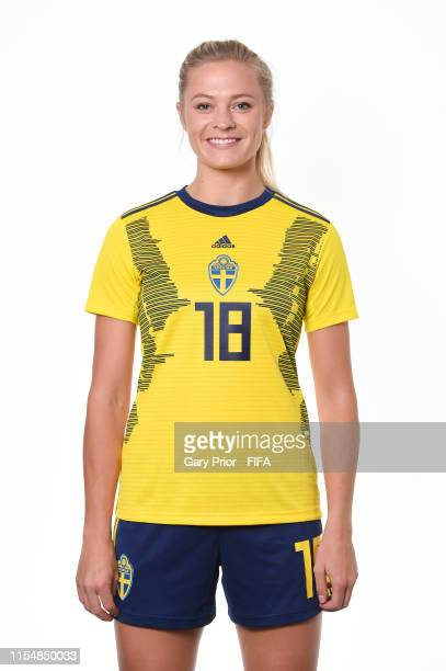 Fridolina Rolfo of Sweden poses for a portrait during the official FIFA Women's World Cup 2019 portrait session at Hotel Mercure Rennes Centre Gare...