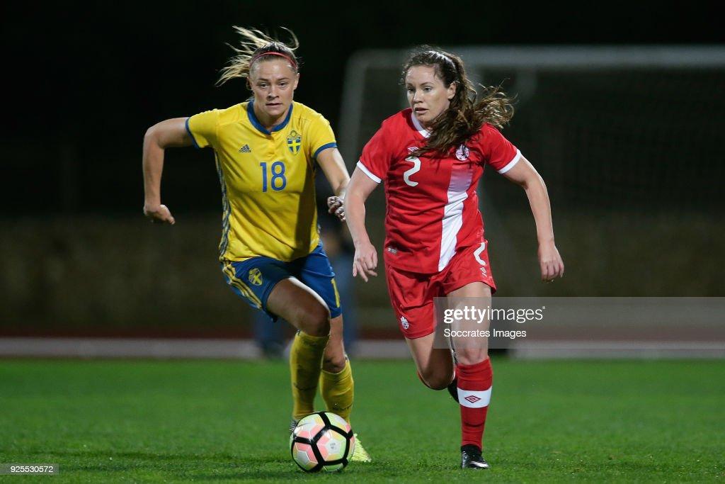 Canada  v Sweden  -Algarve Cup Women : News Photo