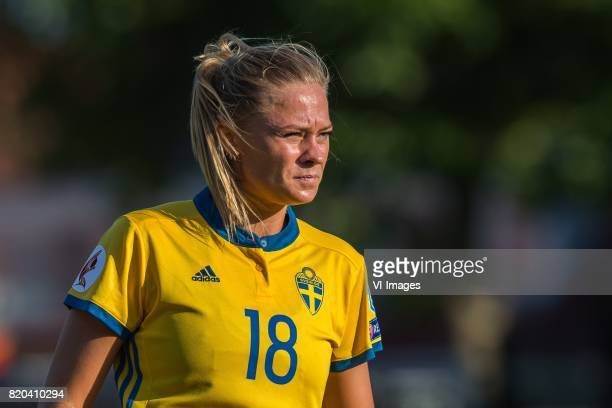 Fridolina Rolfo of Sweden women during the UEFA WEURO 2017 Group B group stage match between Sweden and Russia at The Adelaarshorst on July 21 2017...