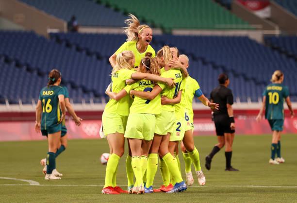 JPN: Sweden v Australia: Women's Football - Olympics: Day 1