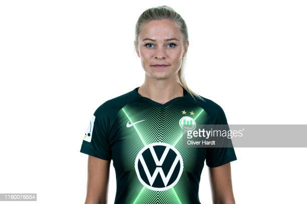 Fridolina Rolfoe of VfL Wolfsburg poses during the team presentation during on July 30 2019 in Wolfsburg Germany