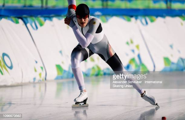 Fridtjof Petzold of Germany performs in the NeoSenior Mens 3000m sprint race during the ISU Junior World Cup Speed Skating Final day 1 on February 9...