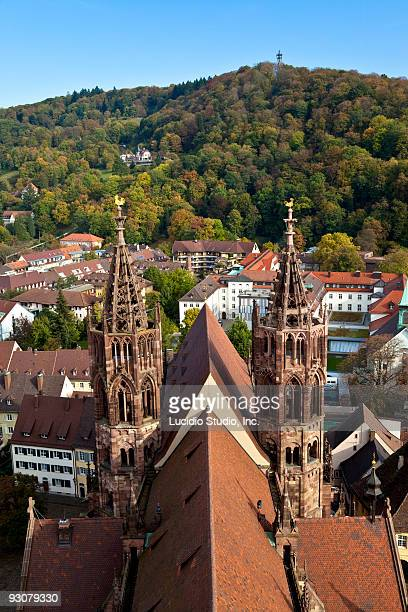frieburg minster germany - minster stock photos and pictures