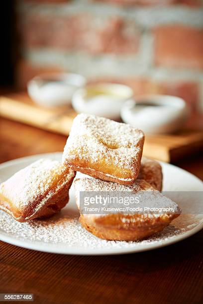 Fried Beignets with icing sugar
