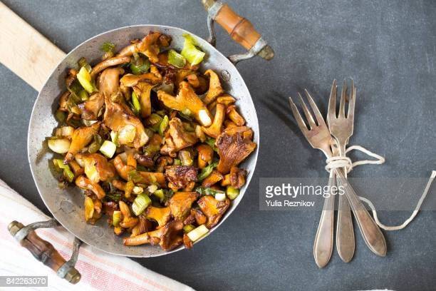 Fried chanterelle