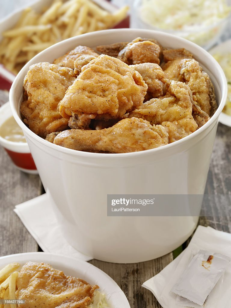 Fried Chicken at a Picnic : Stock Photo