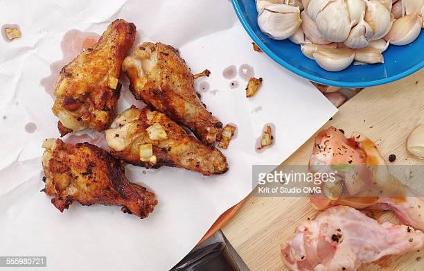Fried chicken garlic